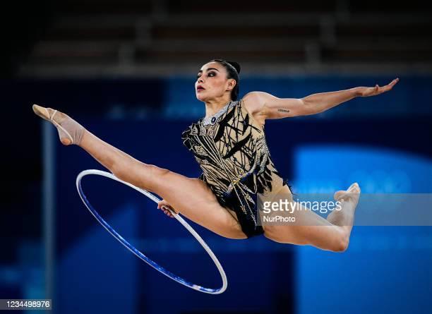 Rut Castillo Galindo during Rhythmic Gymnastics at the Tokyo Olympics, Ariake Gymnastics arena, Tokyo, Japan on August 6, 2021.