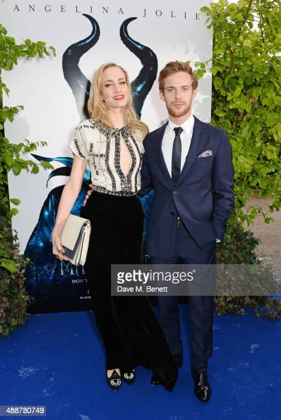 """Ruta Gedmintas and Luke Treadaway arrive at a private reception as costumes and props from Disney's """"Maleficent"""" are exhibited in support of Great..."""