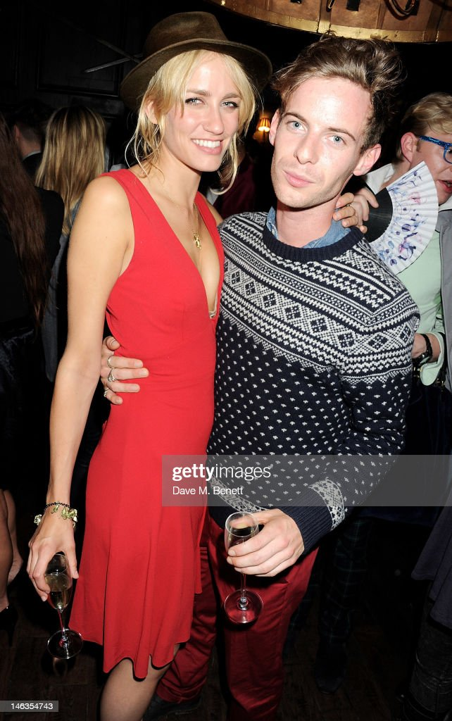 Ruta Gedmintas (L) and Luke Treadaway attend as Tommy Hilfiger hosts a cocktail party to celebrate the launch of London Collections: Men at The Scotch of St. James London on June 14, 2012 in London, England.