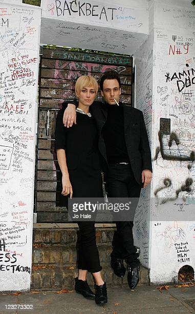 Ruta Gedmintas and Nick Bloodpose outside Abbey Road Studios on September 1 2011 in London England
