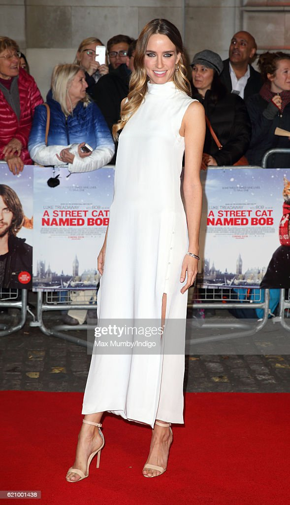 Ruta Gedmintas attends the UK Premiere of 'A Street Cat Named Bob' in aid of Action On Addiction at The Curzon Mayfair on November 3, 2016 in London, England.