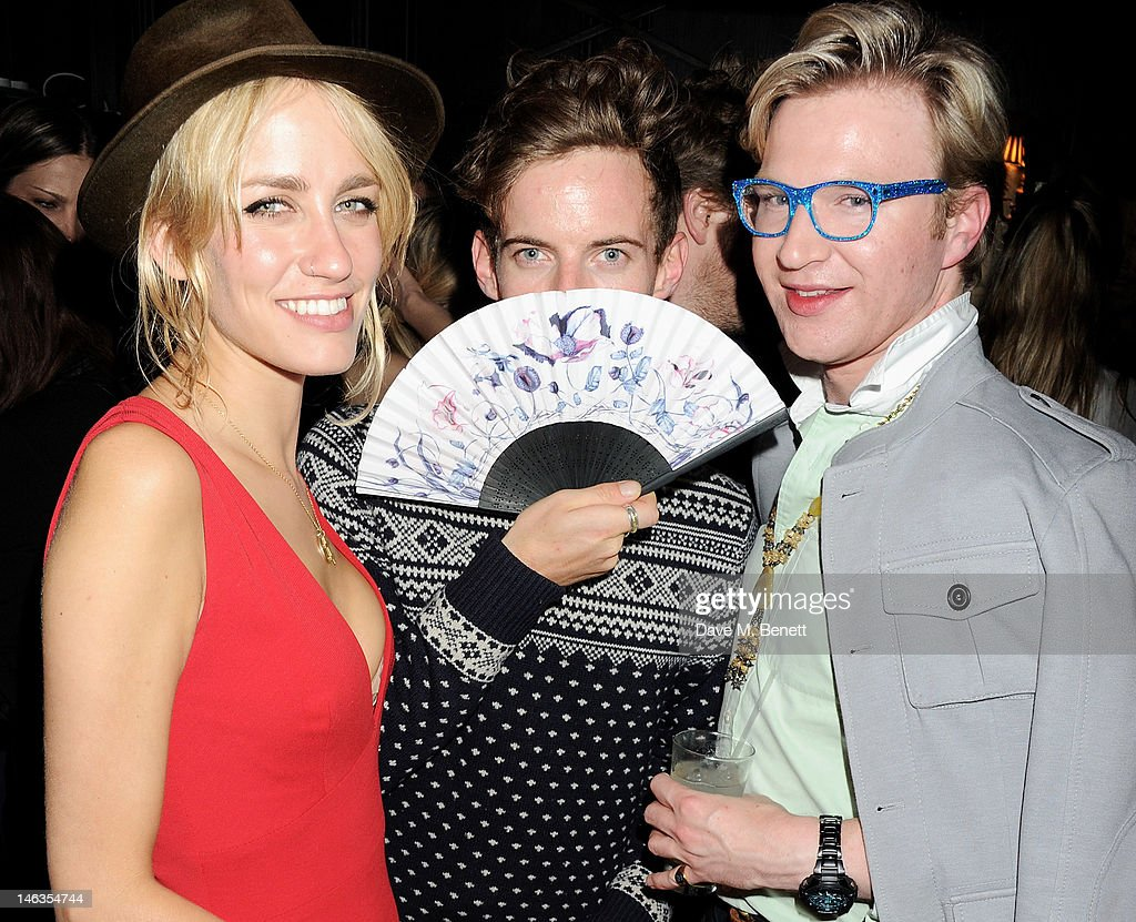 Ruta Gedmintas, Luke Treadaway and Henry Conway attend as Tommy Hilfiger hosts a cocktail party to celebrate the launch of London Collections: Men at The Scotch of St. James London on June 14, 2012 in London, England.