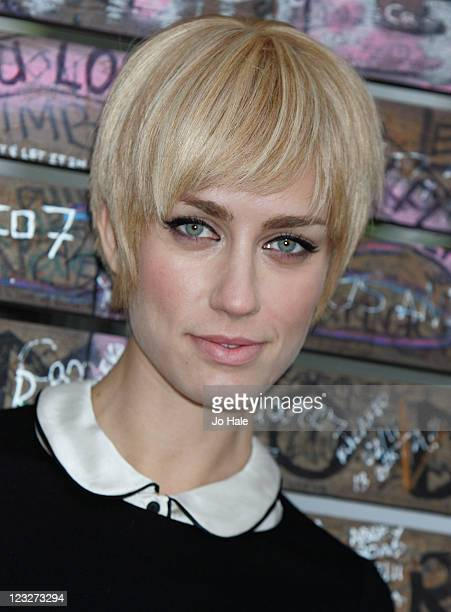 Ruta Gedmintas of new London Theatre Show Backbeat poses outside Abbey Road Studios on September 1 2011 in London England