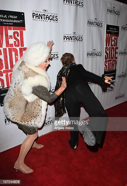 Ruta Lee and Cloris Leachman attend the opening night of 'West Side Story' at the Pantages Theatre on December 1 2010 in Hollywood California
