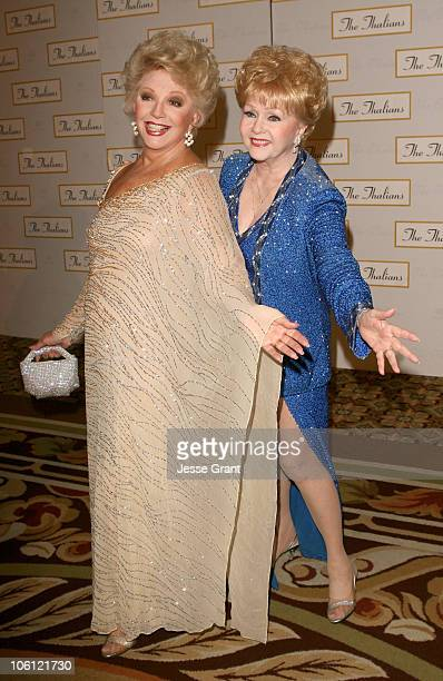 Ruta Lee and Debbie Reynolds during 51st Annual Thalians Ball Arrivals at Hyatt Regency Century Plaza in Century City California United States