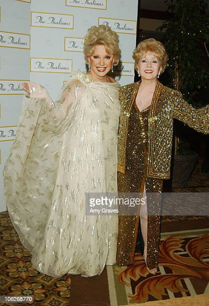 Ruta Lee and Debbie Reynolds during Debbie Reynolds and Ruta Lee Host The Thalians 50th Anniversary at The Hyatt Regency Century Plaza Hotel in...