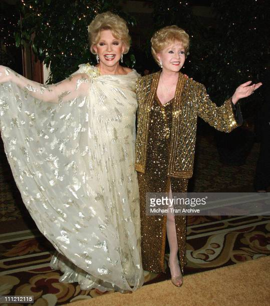 Ruta Lee and Debbie Reynolds during The Thalians 50th Anniversary Musical Extravaganza Gala Arrivals at Hyatt Regency Century City Plaza in Los...