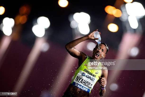 Rutendo Joan Nyahora of Zimbabwe competes in the Women's Marathon during day one of 17th IAAF World Athletics Championships Doha 2019 at Khalifa...