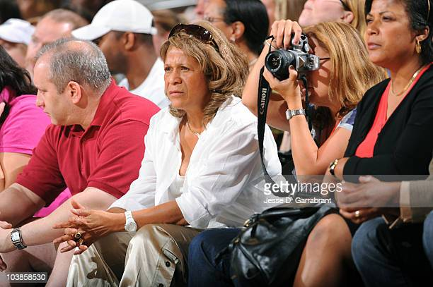 Rutgers head coach of the women's basketball team Vivian Stringer watches the Atlanta Dream take on the New York Liberty during Game One of the 2010...