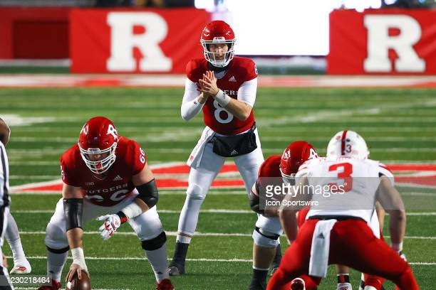 Rutgers Scarlet Knights quarterback Artur Sitkowski during the college football game between the the Rutgers Scarlet Knights and the Nebraska...