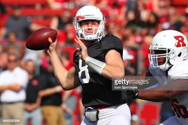 Rutgers Scarlet Knights quarterback Artur Sitkowski during the Rutgers Spring Football Game on April 14 at High Point Solutions Stadium in Piscataway...