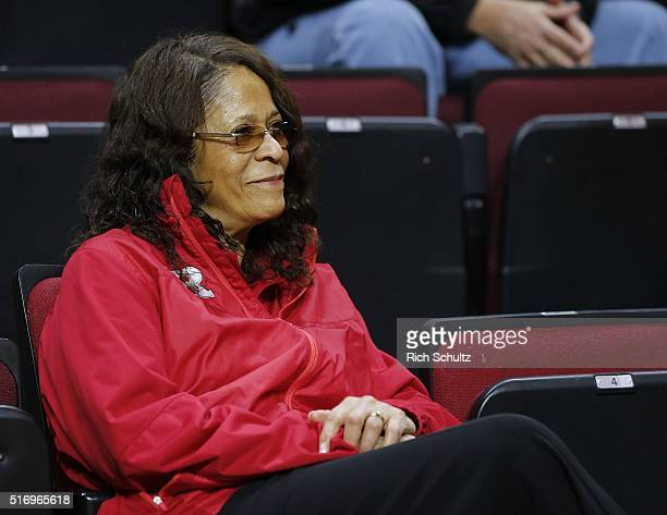 Rutgers Scarlet Knights women's basketball coach C Vivian Stringer watches as Steve Pikiell is introduced as the new men's head basketball coach...