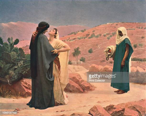 Ruth and Naomi' After a painting in the Walker Art Gallery Liverpool Scene from the Old Testament Orpah stays behind in Moab while Ruth embraces her...