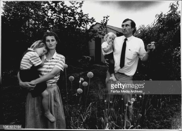 Ruth and Phillip Mahoney with their daughters Joanna and Katherine by their vegetable patch at their home in the Sydney suburb of Pendle HillAfter...