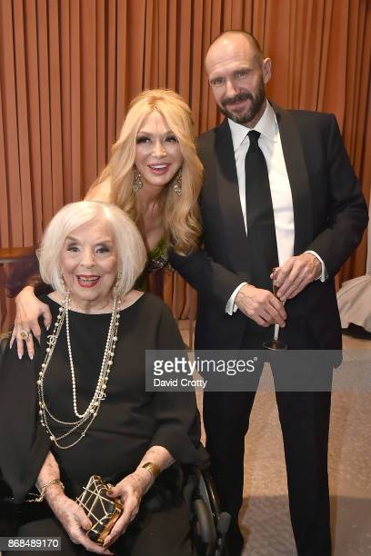 Ruth Ann Segerstrom Moriarty Elizabeth Segerstrom and Ralph Fiennes attend the Mariinsky Orchestra Concert in honor of Henry Segerstrom and the 50th...