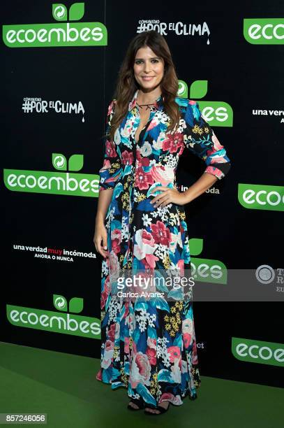 Ruth Armas attends 'An Inconvenient Sequel Truth to Power' premiere at the Callao cinema on October 3 2017 in Madrid Spain