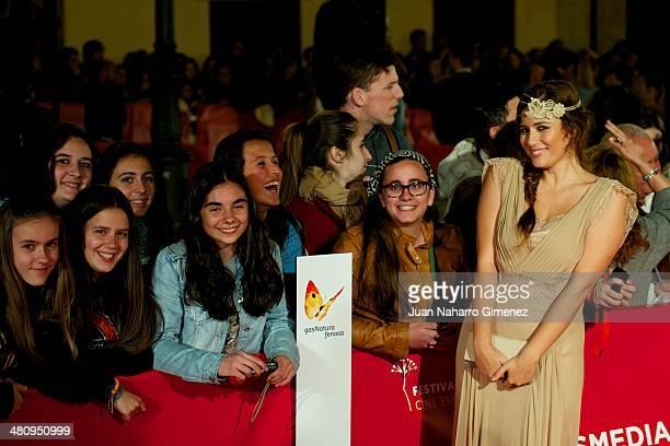 Ruth Armas attends 'Todos Estan Muertos' premiere during the 17th Malaga Film Festival 2014 at Teatro Cervantes on March 27, 2014 in Malaga, Spain.