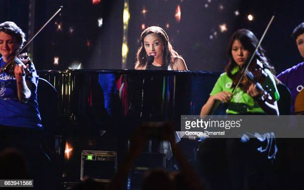 Ruth B performs at 2017 Juno Awards at Canadian Tire Centre on April 2 2017 in Ottawa Canada