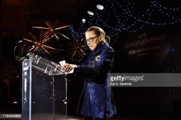 Ruth Bader Ginsburg speaks onstage at the Fourth Annual Berggruen Prize Gala celebrating 2019 Laureate Supreme Court Justice Ruth Bader Ginsburg In...