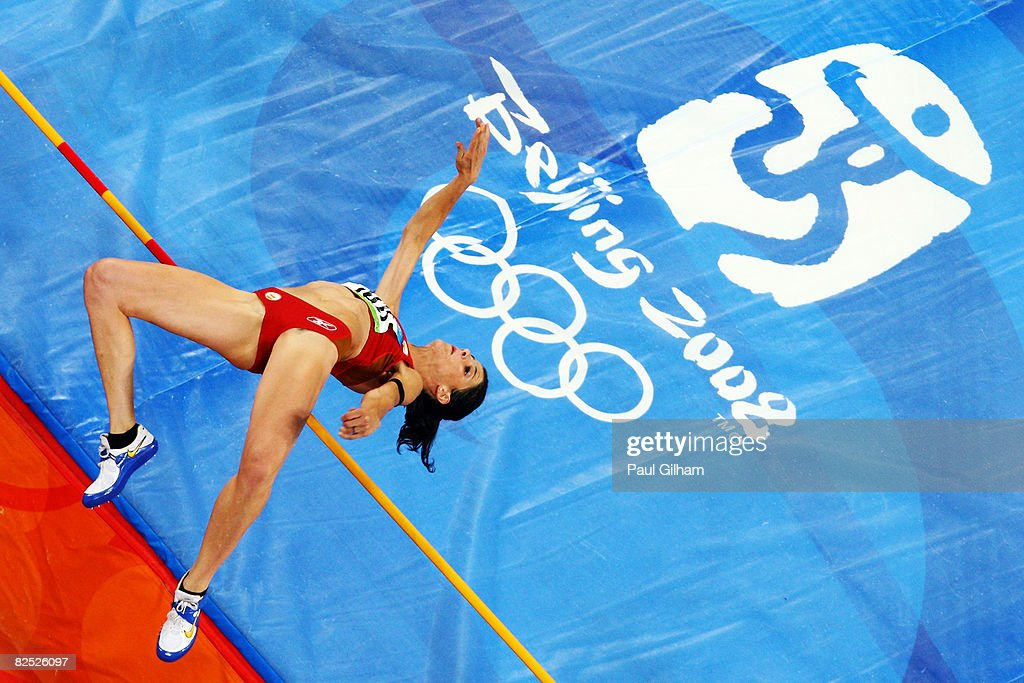 Ruth Beitia of Spain competes in the Women's High Jump Final held at the National Stadium on Day 15 of the Beijing 2008 Olympic Games on August 23, 2008 in Beijing, China.
