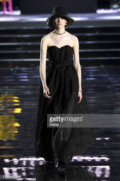 Ruth Bell walks the CR Runway x LuisaViaRoma at Piazzale Michelangelo during the Pitti Immagine Uomo 96 on June 13 2019 in Florence Italy