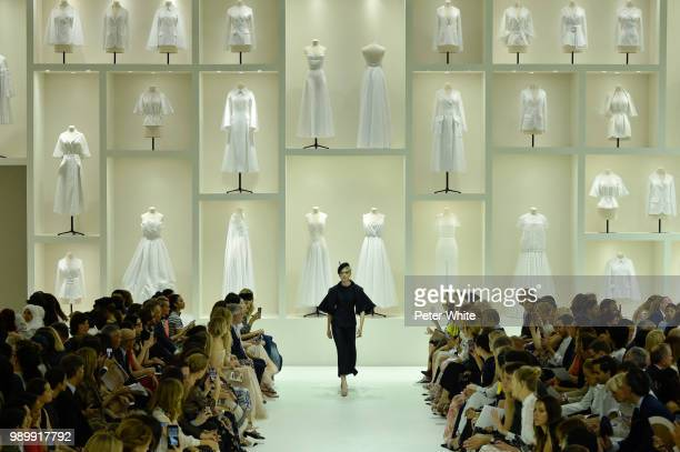Ruth Bell walks the runway during the Christian Dior Haute Couture Fall Winter 2018/2019 show as part of Paris Fashion Week on July 2 2018 in Paris...