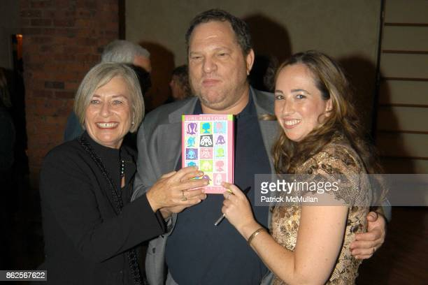 Ruth Bloom Harvey Weinstein and Rebecca Bloom attend Launch of Girl Anatomy at Tribeca Grill on October 2 2002 in New York City