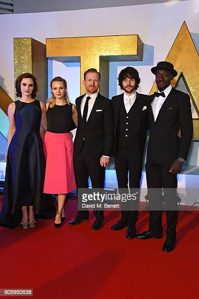 Ruth Bradley Emily Berrington Tom GoodmanHill Colin Morgan and Ivanno Jeremiah attend the 21st National Television Awards at The O2 Arena on January...