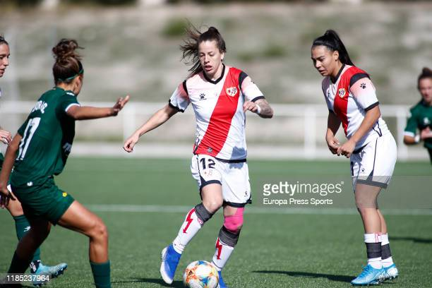 """Ruth Bravo """"Chule"""", player of Rayo Vallecano from Argentina, in action during the Spanish women's league, Liga Iberdrola, football match played..."""