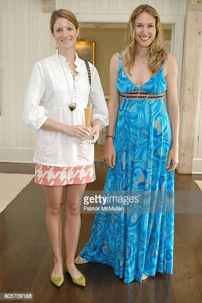 Ruth Caldwell and Alison Brokaw attend Carlos Souza Jewelry Preview Party at Southampton on July 22 2006