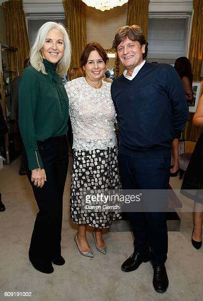 Ruth Chapman Alexandra Shulman and Tom Chapman attend Vogue Voice of a Century launch at Matches Fashion on September 20 2016 in London England