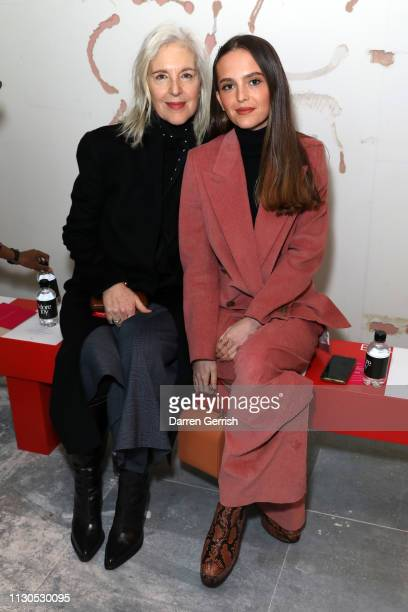 Ruth Chapman and Esme Chapman attends the Christopher Kane show during London Fashion Week February 2019 on February 18 2019 in London England