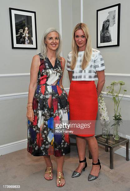 Ruth Chapman and Tilly MacalisterSmith attend MATCHESFASHIONCOM Partners With Rika On 'Iron Girl' Project For Rika Magazine on July 18 2013 in London...
