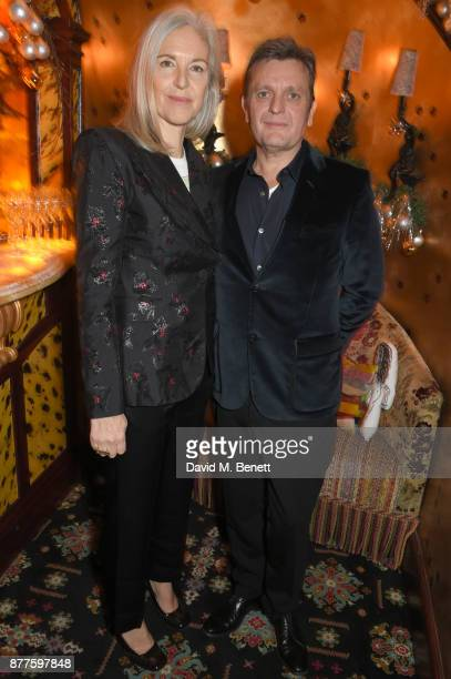 Ruth Chapman and Tom Chapman attend the Nick Cave The Bad Seeds x The Vampires Wife x Matchesfashioncom party at Loulou's on November 22 2017 in...