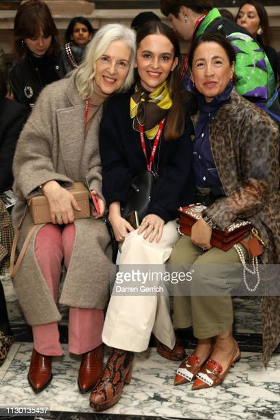 Ruth Chapman Esme Chapman and Natalie Kingham attend the Molly Goddard show during London Fashion Week February 2019 at the Durbar Court Foreign and...