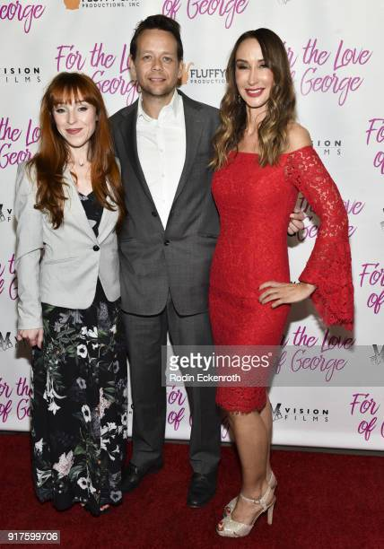 Ruth Connell Henry Hereford and actor/producer Nadia Jordan attend the premiere of Vision Films' For The Love Of George at TCL Chinese 6 Theatres on...