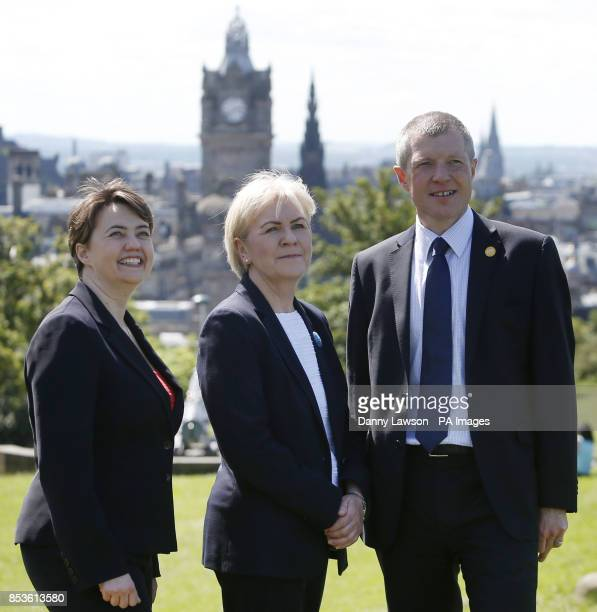 Ruth Davidson leader of the Scottish Conservatives Johann Lamont leader of Scottish Labour and Willie Rennie leader of the Scottish Liberal Democrats...