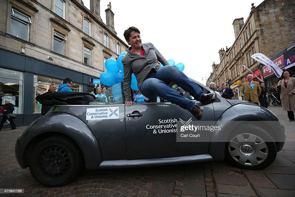 Scottish Conservative Party Leader Ruth Davidson Campaigns In Hamilton