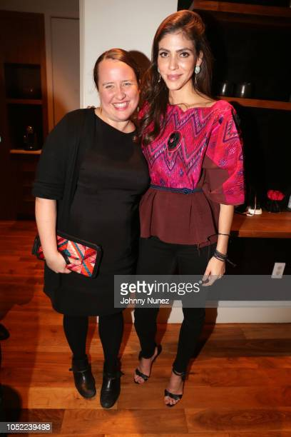 Ruth DeGolia and Alida Boer attend the Mercado Global Special Supporter Dinner at a Private Residence on October 15, 2018 in New York City.