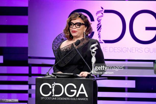 Ruth E Carter accepts the Excellence in SciFi / Fantasy Film award for 'Black Panther' onstage during The 21st CDGA at The Beverly Hilton Hotel on...