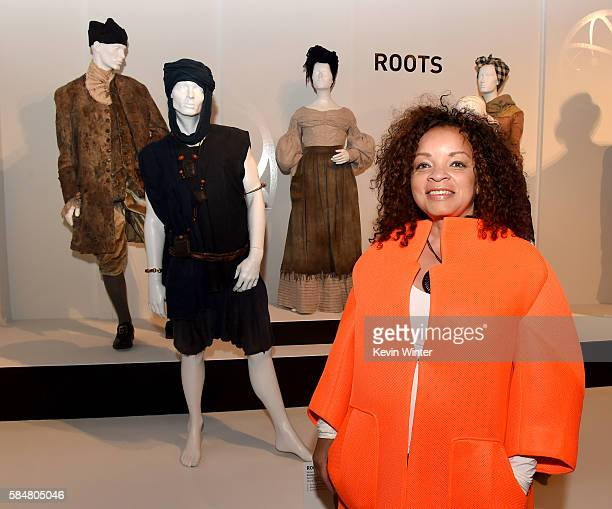 Ruth E Carter Roots costume designer and Emmy nominee poses at the Art of Television Costume Design Exhibition presented by the Television Academy at...