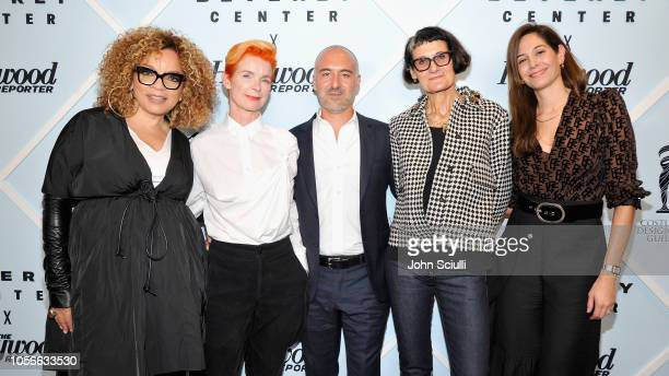 Ruth E Carter Sandy Powell Carlos Rosario Alexandra Byrne and Erin Benach arrive at the Beverly Center's Grand Reveal Weekend Candidly Costumes with...