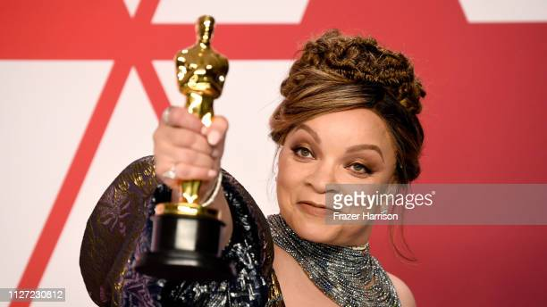 Retransmission with alternate crop Ruth E Carter winner of Best Costume Design for 'Black Panther' poses in the press room during the 91st Annual...