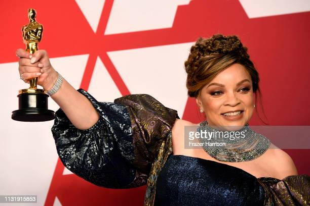 Ruth E Carter winner of Best Costume Design for Black Panther poses in the press room during the 91st Annual Academy Awards at Hollywood and Highland...