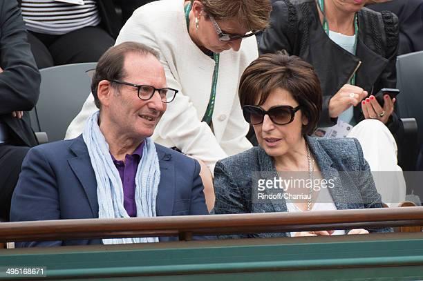 Ruth Elkrief attends the Roland Garros French Tennis Open 2014 Day 8 at Roland Garros on June 1 2014 in Paris France