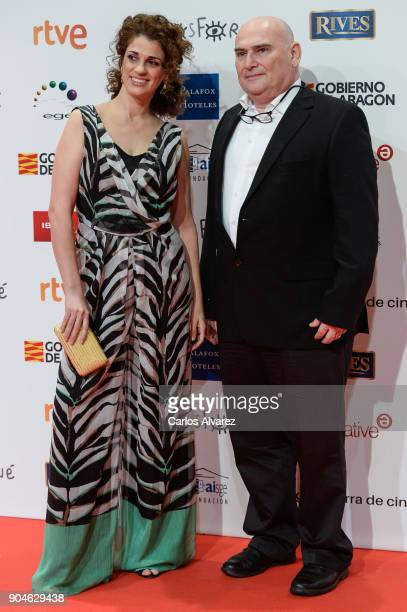 Ruth Gabriel and guest attend the 23rd edition of Jose Maria Forque Awards at Palacio de Congresos on January 13 2018 in Zaragoza Spain