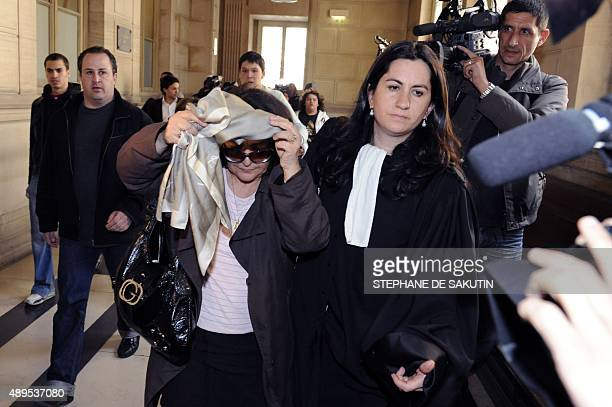 Ruth Halimi the mother of Ilan Halimi leaves the audience room flanked by her lawyer Caroline Toby on April 29 2009 at Paris courthouse during a...