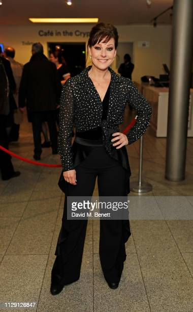 Ruth Henshall attends the press night after party for 'Waitress The Musical' at Cafe At The Crypt St MartinintheFields on March 7 2019 in London...