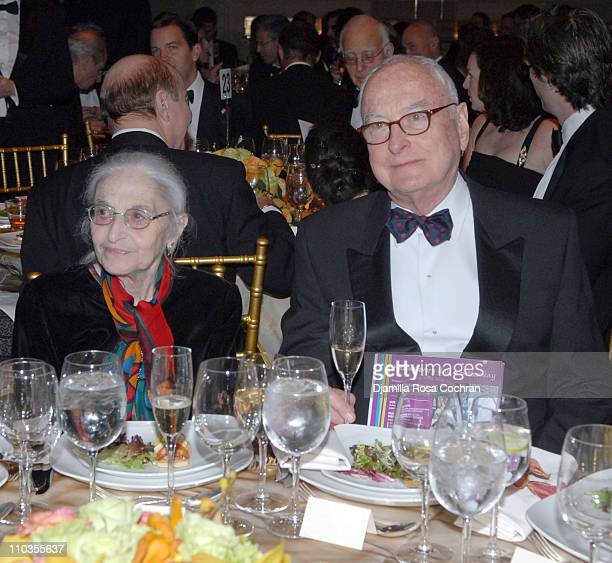 Ruth Jhabvala and James Ivory attend The 2007 Trophee des Arts Gala at Gotham Hall on November 27 2007 in New York City New York