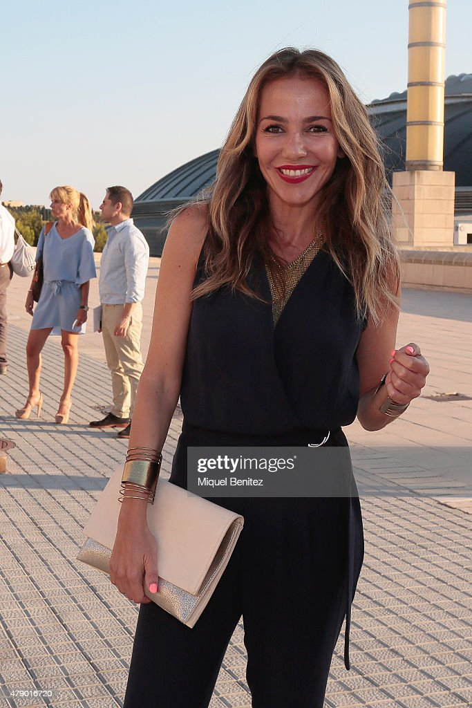 Ruth Jimenez attends the Mango fashion show at 'Barcelona 080 Fashion Autumn\Winter 2015-2016' at the Olympic Stadium of Barcelona on June 29, 2015 in Barcelona, Spain.